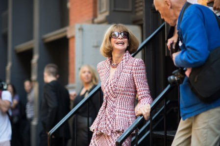 NEW YORK, NY - SEPTEMBER 06: Conde Nast Artistic Director Anna Wintour and photographer Bill Cunningham seen in SoHo after the Jason Wu fashion show during New York Fashion Week Spring 2014 on September 6, 2013 in New York City. (Photo by Adam Katz Sinding/Getty Images)