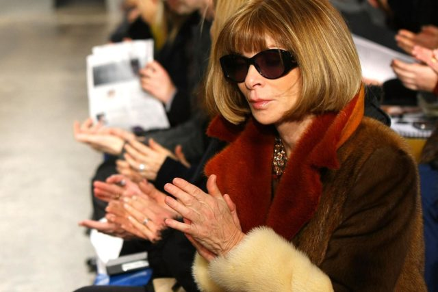 Anna Wintour – Huge Sunnies, Pageboy Haircut and High Heels.